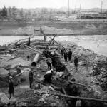 1932年頃 江見写真場 《郡是~吉井川横断排水管敷設》