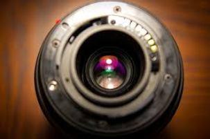 lentilles d'un objectif photo