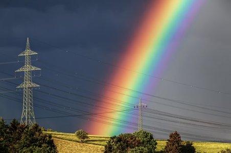 photographier un arc- en-ciel après la pluie