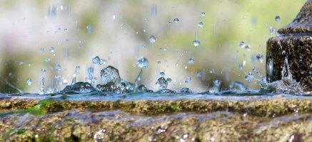 gouttes de pluie éclaboussures