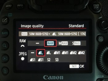 photographier en RAW + JPEG