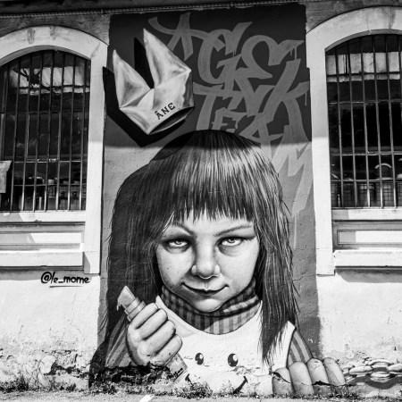street art à Vienne challenge photo 52 en noir & blanc