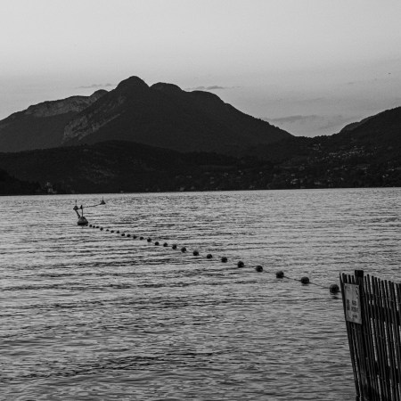challenge 52 photo noir & blanc lac Annecy