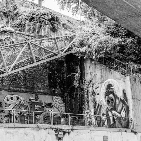 art urbain pour un challenge 52 en photo noir et blanc en format carré