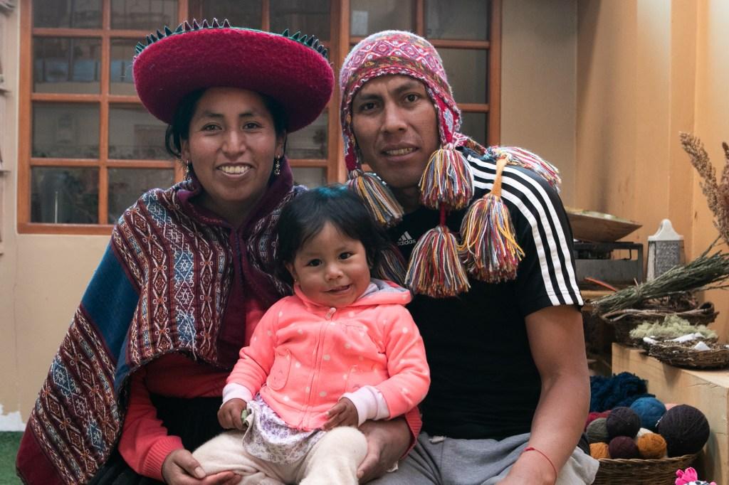 Reynaldo with Margot and Adriana (center)