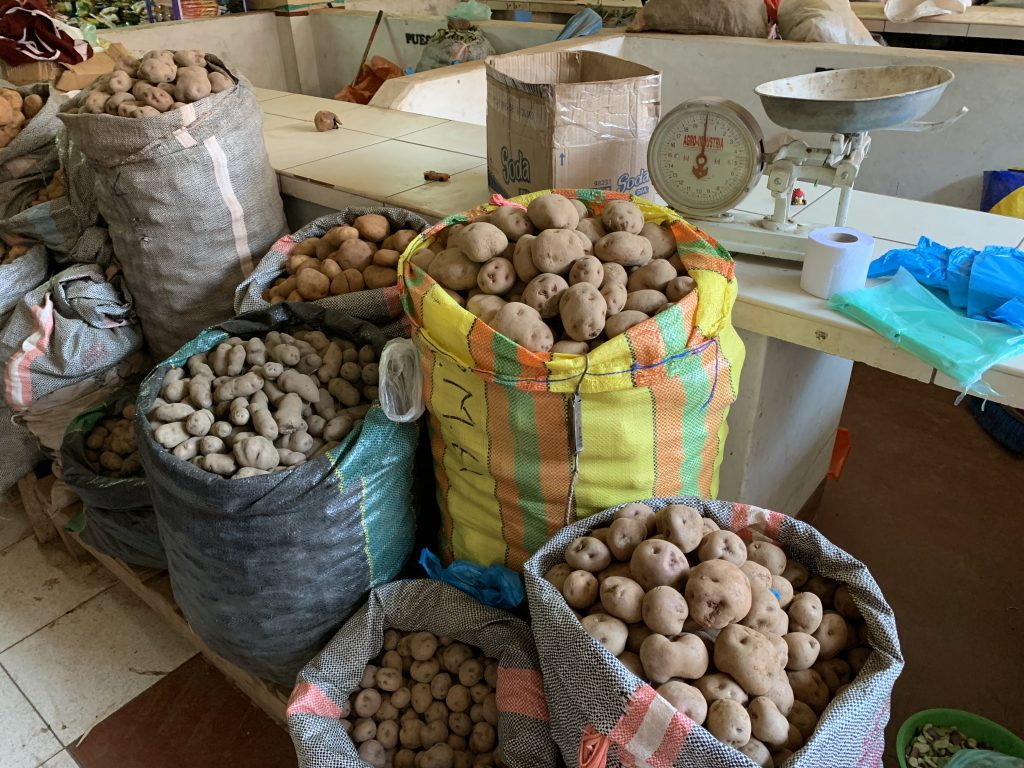 Potatoes in Pisac market