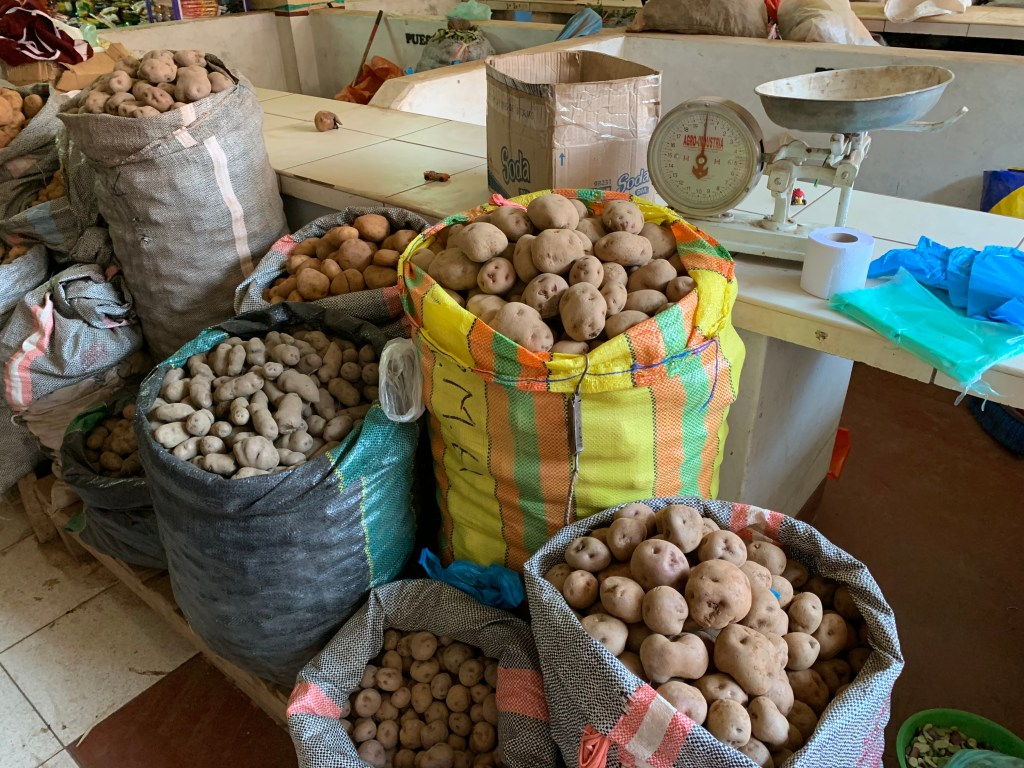 Potatoes in Pisac market
