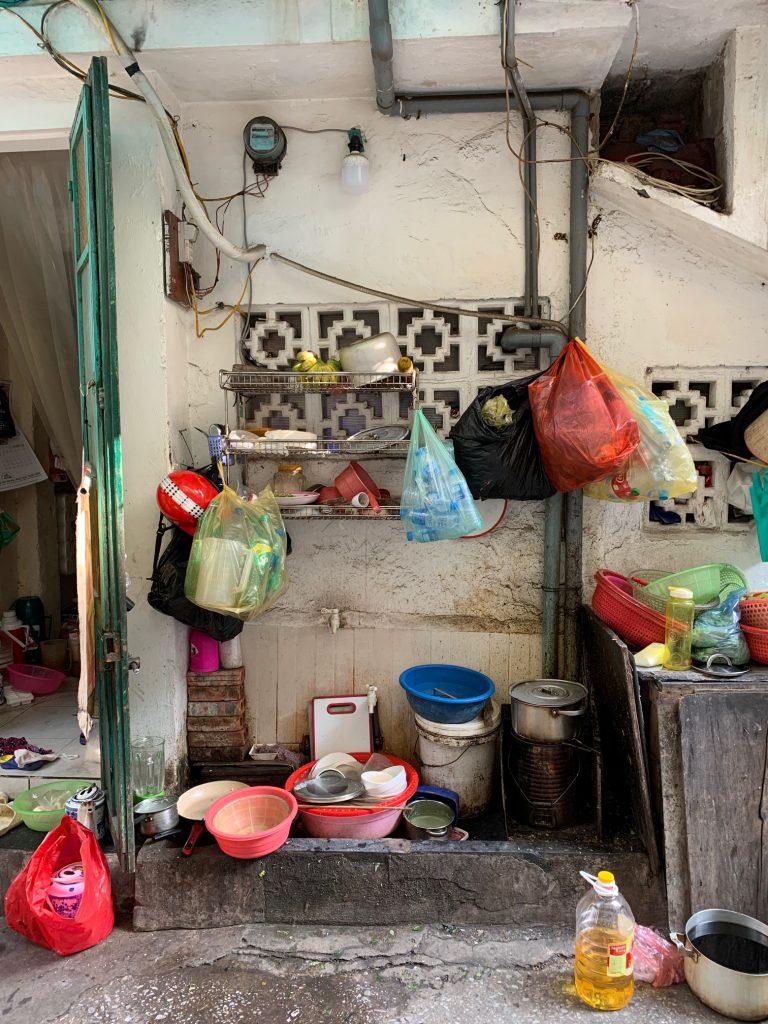 A small home in an alley, Hanoi, Vietnam ©2019, Cyndie Burkhardt.
