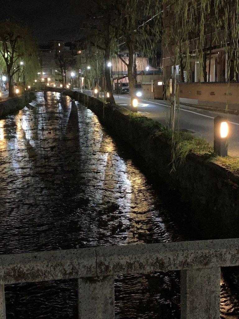 Nighttime, Kyoto, Japan ©2020, Cyndie Burkhardt.
