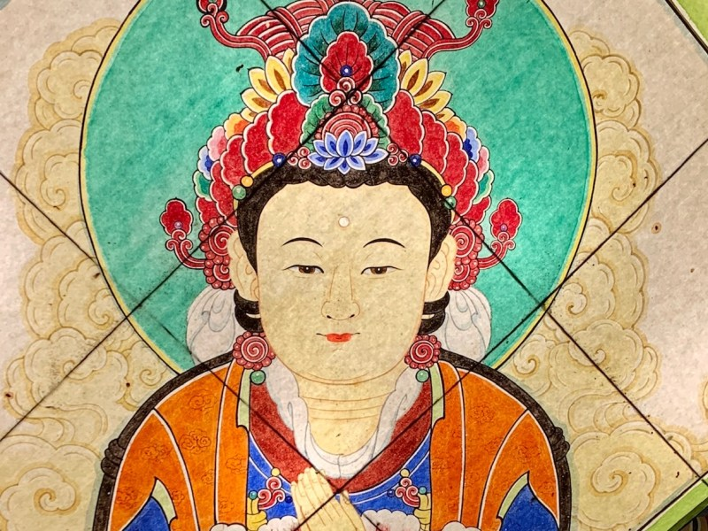Joyesa Temple, Seoul, Korea, ©2020, Cyndie Burkhardt.