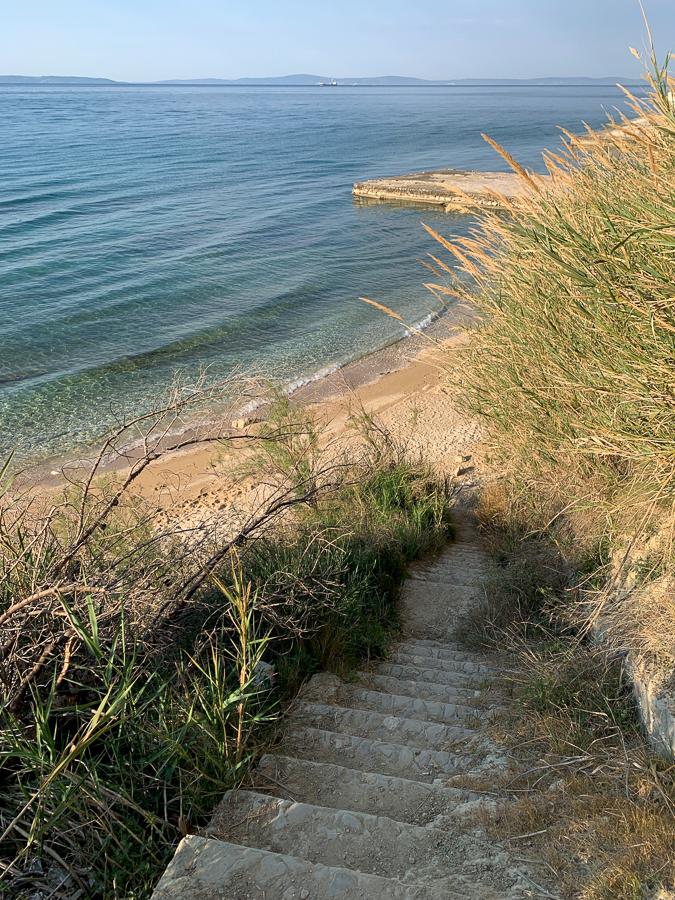 Beach, Split, Croatia ©2020, Cyndie Burkhardt.