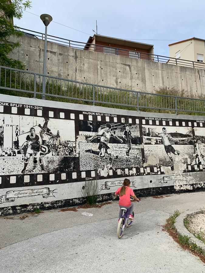 Hajduk Graffiti Wall, Split, Croatia ©2020, Cyndie Burkhardt.