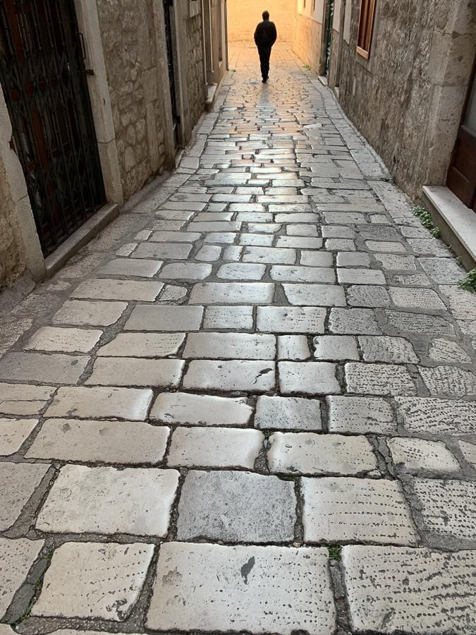 Old Stone Street, Sibenik, Croatia ©2020, Cyndie Burkhardt.