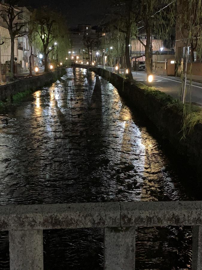 River at Night, Kyoto, Japan, ©2020, Cyndie Burkhardt.