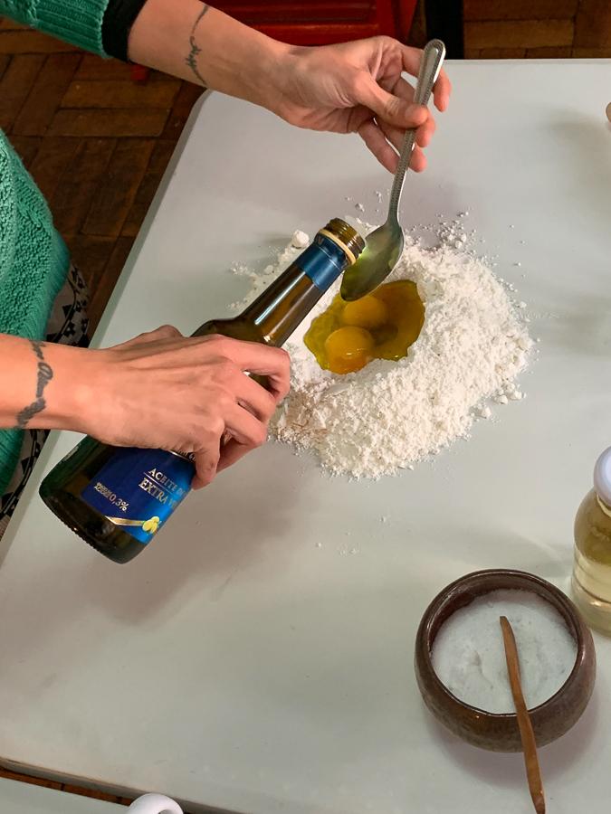 Monse Making Empanadas, Santiago, Chile ©2019, Cyndie Burkhardt.