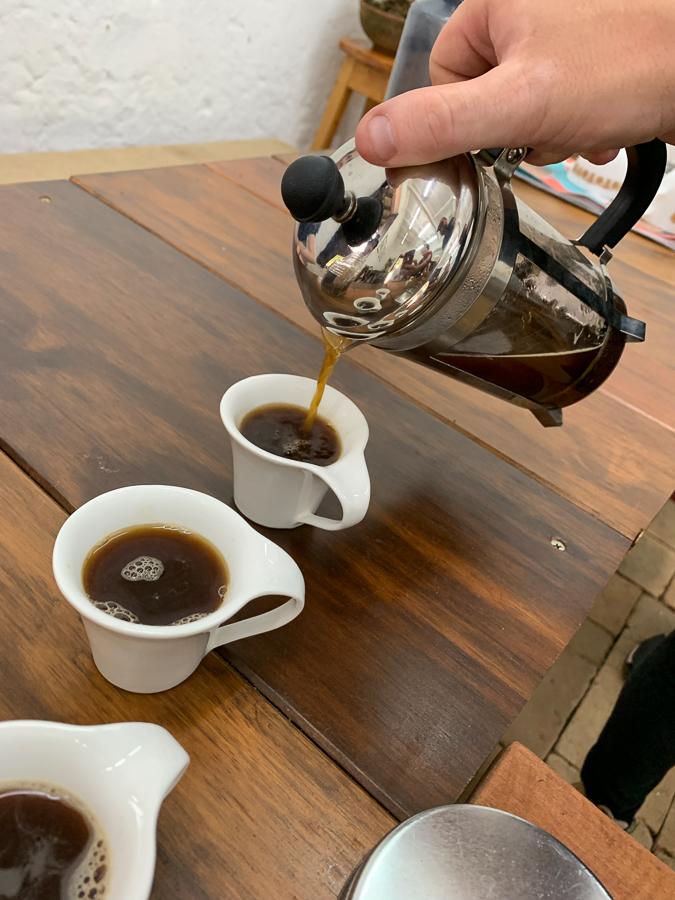 Coffee at La Casa Grande Coffee Hacienda, Medellín, Colombia, ©2019, Cyndie Burkhardt.