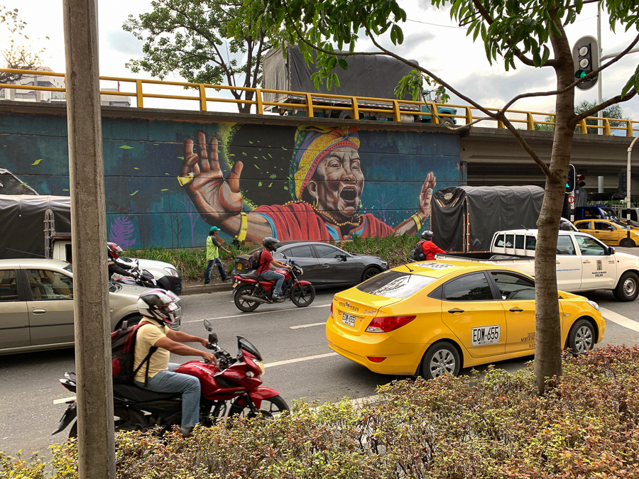 Wall Art, Medellín, Colombia, ©2019, Cyndie Burkhardt.