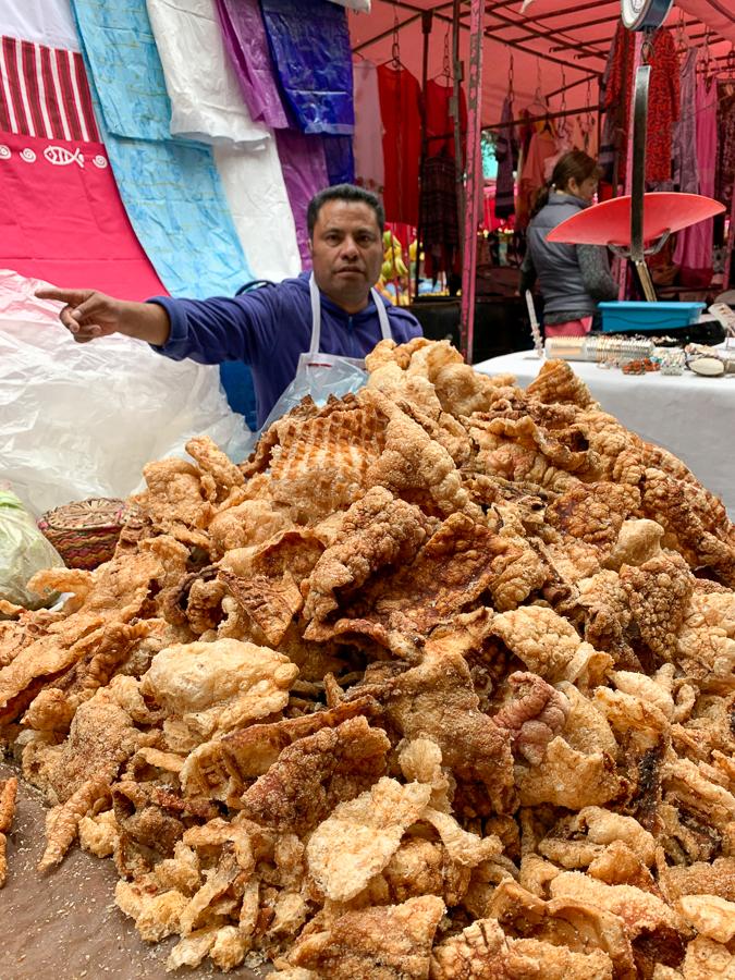 Fried pork rinds, Mexico City, Mexico ©2019, Cyndie Burkhardt