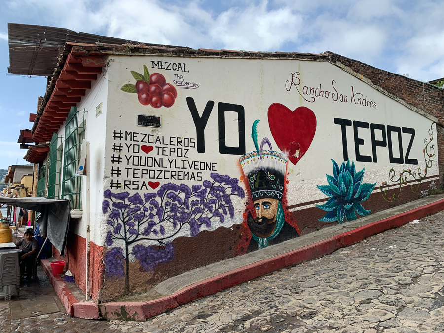 Wall mural, Tepoztlan, Mexico ©2019, Cyndie Burkhardt
