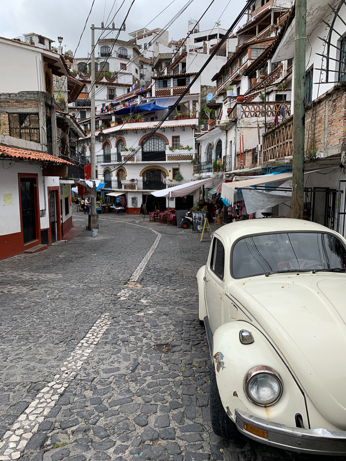 Volkswagon car, Taxco, Mexico ©2019, Cyndie Burkhardt