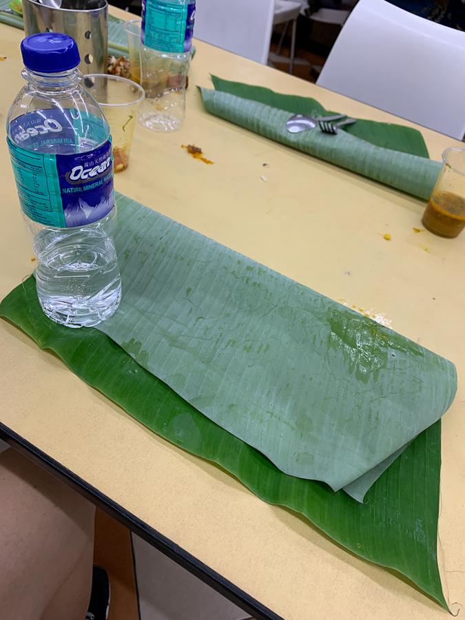 Banana leaf and Chettinad cuisine, Kuala Lumpur, Malaysia, ©2020, Cyndie Burkhardt.