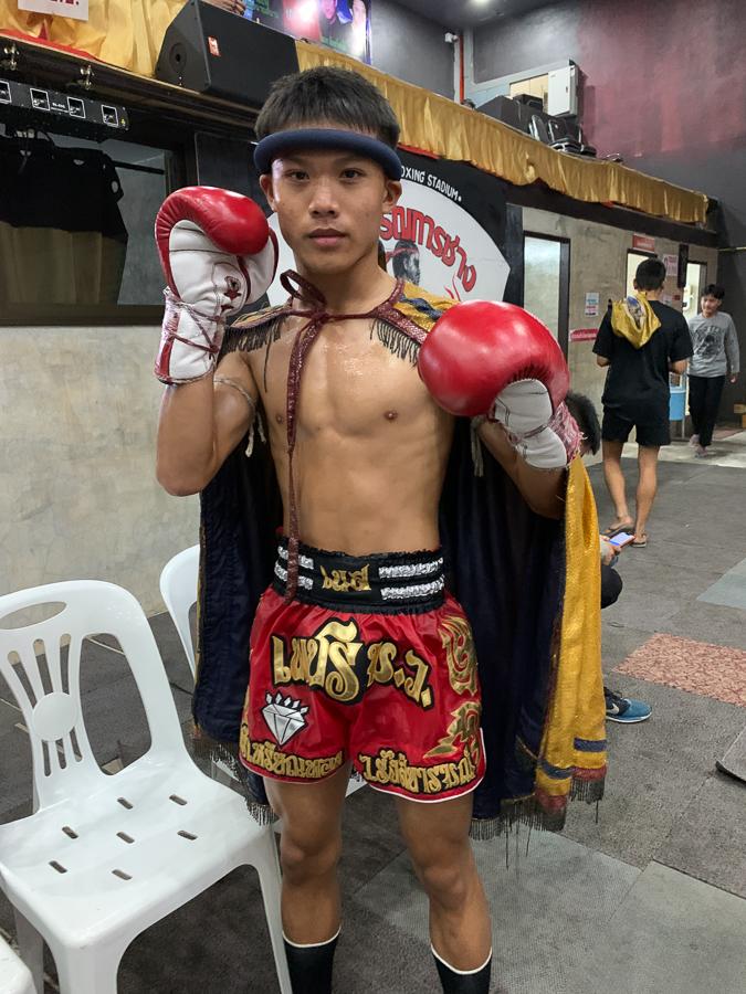 Mui Thai match, Chiang Mai, Thailand ©2019 Cyndie Burkhardt.