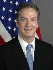 Former USA ambassador to Thailand Eric G John