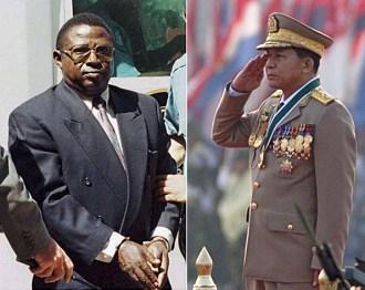 Hard-liners:  Rwanda's Colonel Theoneste Bagosora & Myanmar's General Min Aung Hlaing