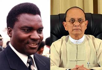 Rwandan president Juvénal Habyarimana Myanmar President Thein Sein - moderate and reformist.