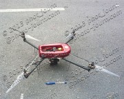 A quadcopter camera drone used by the Royal Thai Police