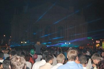 Фотографія з фестивалю лазерних шоу у Львові на День Незалежності України 24 серпня 2010 року біля Львівської опери.