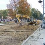 Ремонтні роботи на проспекті Свободи, жовтень 2011 року