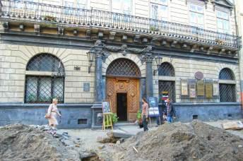Ремонтні роботи на площі Ринок у Львові - осінь 2011 року