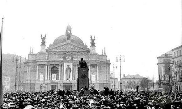 Відкриття пам'ятника В.І. Леніна у Львові