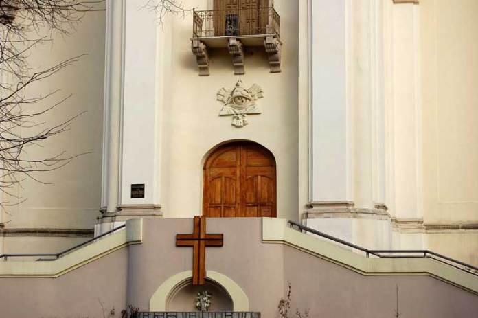 Kостел сакраменток, вулиця Ґосєвського (церква св.Трійці, вулиця Тершаківців)