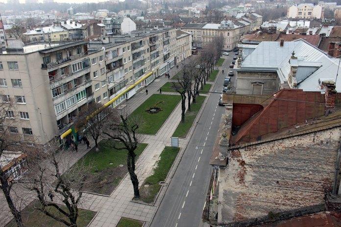 Панорама Львова з даху Євроготелю