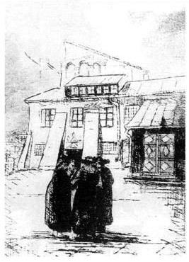 Гравюра Юзефи Кротохвіли-Видимської (1935)