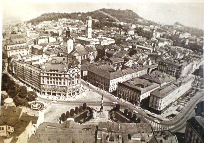 Площа Адама Міцкевича з висоти, фото 70-ті роки XX століття