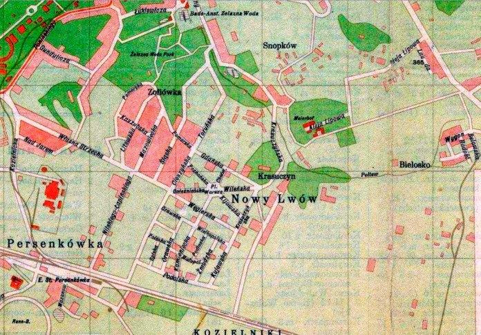 Карта Львова. 1939 р.