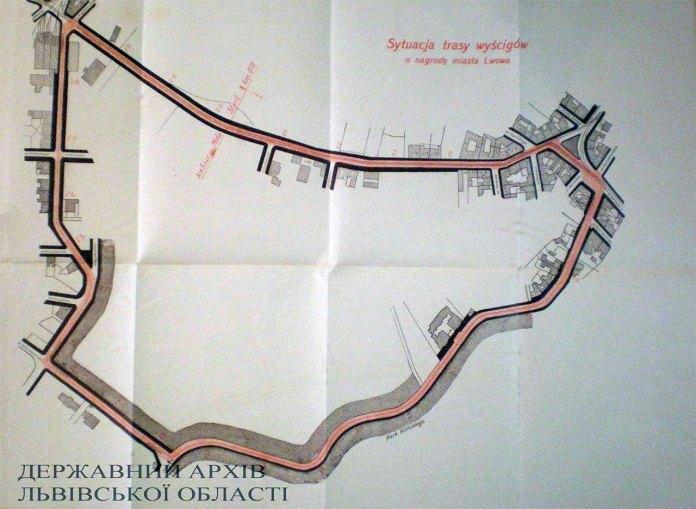 «Львівський трикутник» - траса по якій відбувались автоперегони
