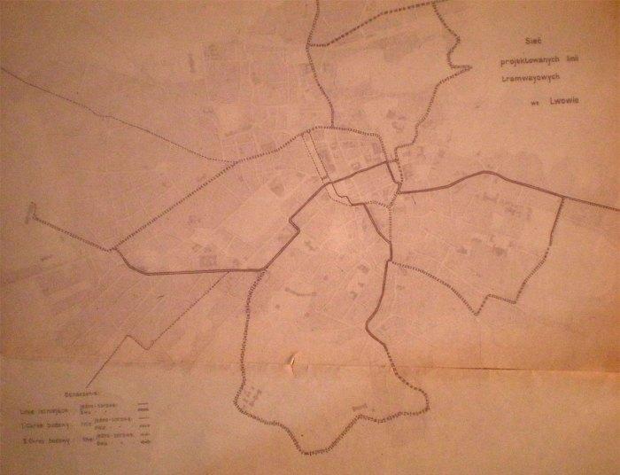 Проект розвитку трамвайної сітки, 1906 р