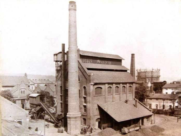 Комплекс газового заводу у Львові, фото поч. XX століття.