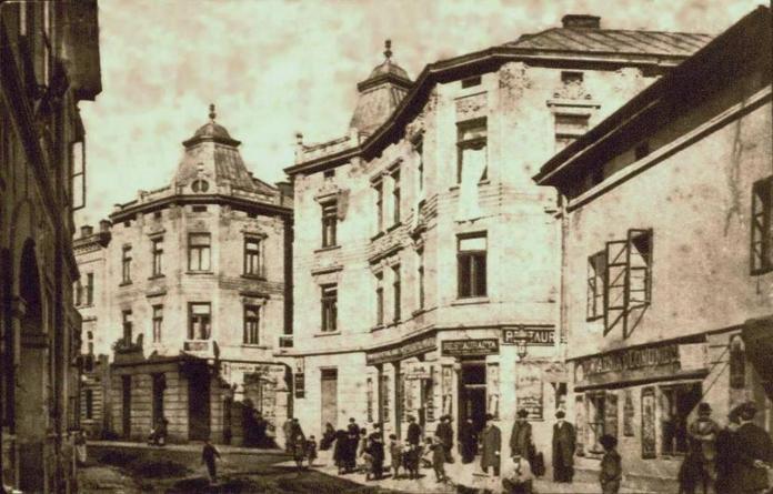 Вулиця Різницька ( нині вул. С. Наливайка ), фрагмент поштівки, до 1914 року