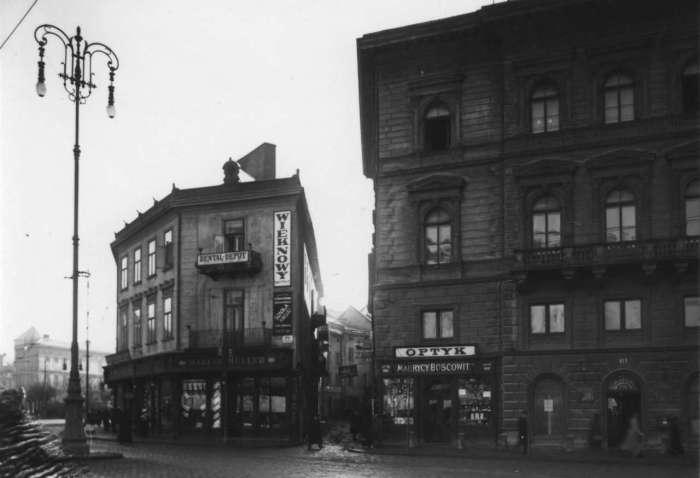 Давня вулиця Крива ( нині вул. О. Нижанківського ), фото поч. XX ст.