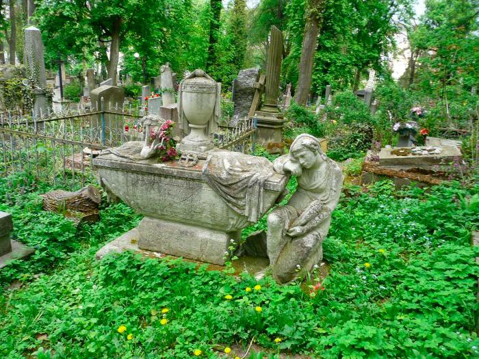 Саркофаг на могилі Петера Стефані (між полями №8 і №7 на Личаківському цвинтарі)
