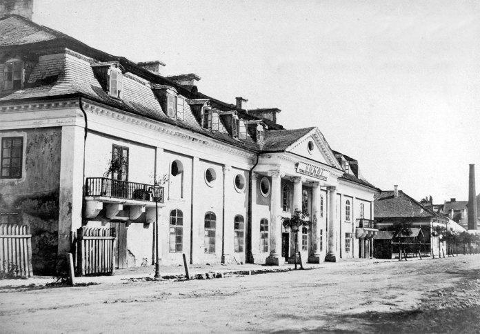 Касино Йоганна Гехта (тут тепер стоїіть головний корпус Львівського національного університету ім. І.Франка), фото 1870-х років