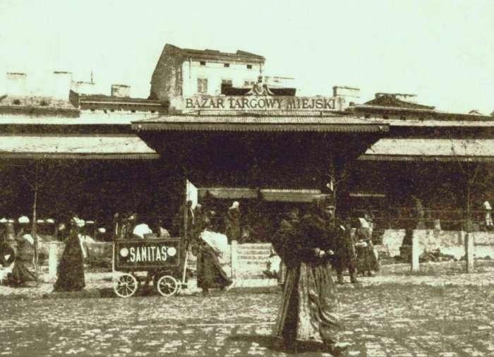 Вхід до павільйону Краківської торговиці, фото 1902 року