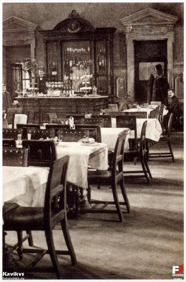 Ресторан на станції Перемишль, фото, початок XX століття