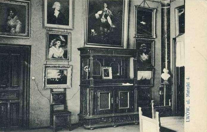 Поштівка з презентацією колекції Пінінського у віллі на Матейка,4. 1930-ті рр.