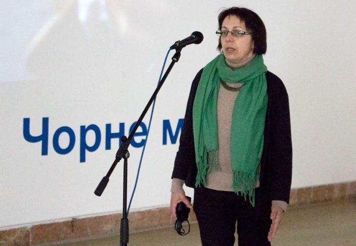 Заступник директора Львівського Палацу Мистецтв Наталка Космолінська